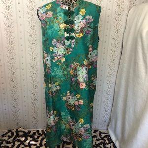 ModCloth Era of Aplomb Emerald Shift Dress Flower